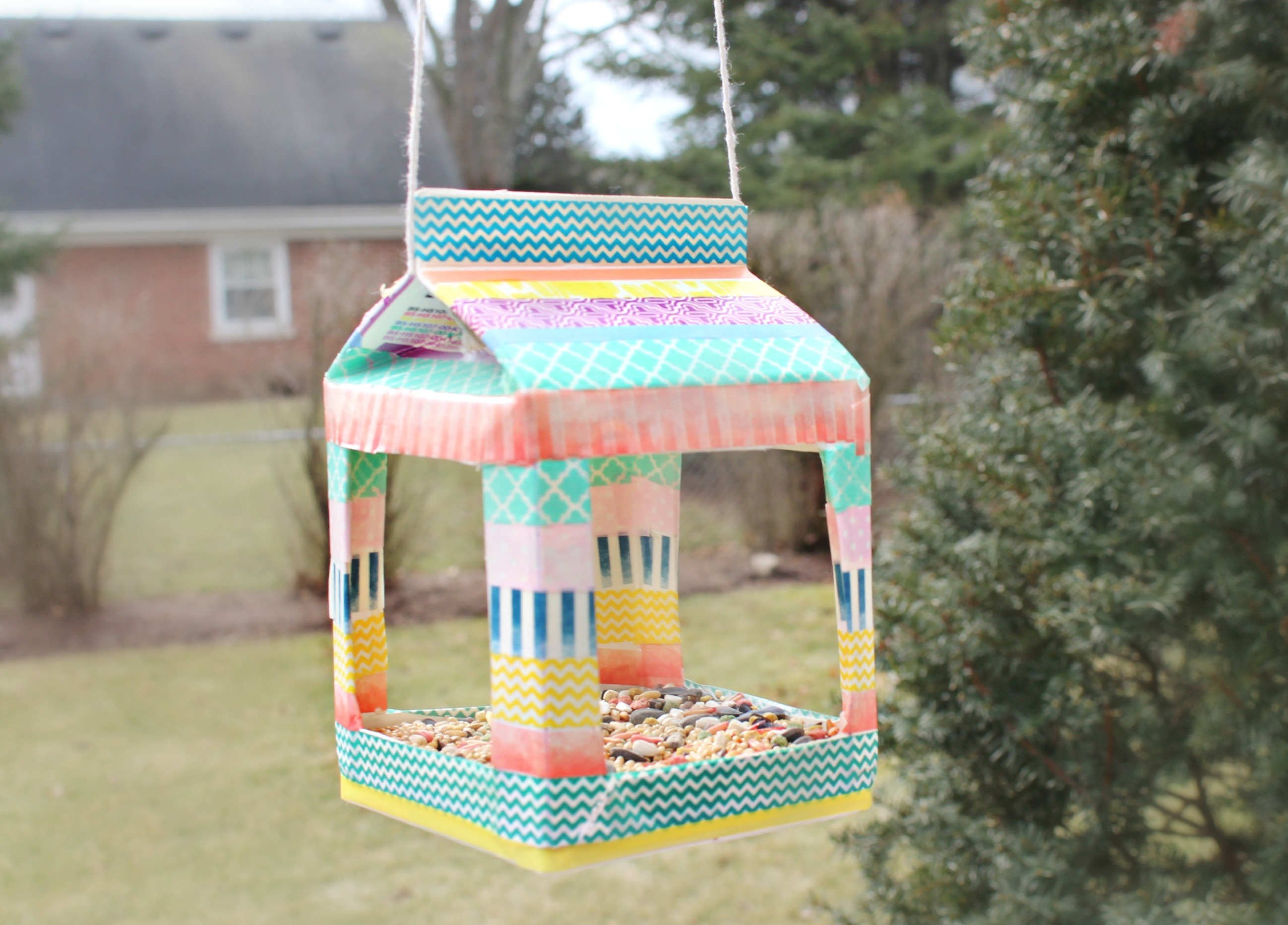 Step 12 washi birdhouse