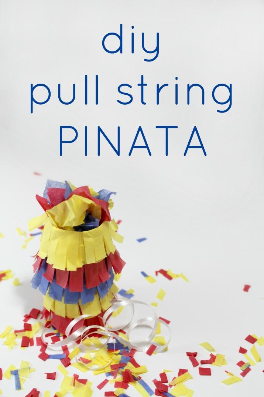 diy pull string pinata craft tutorial