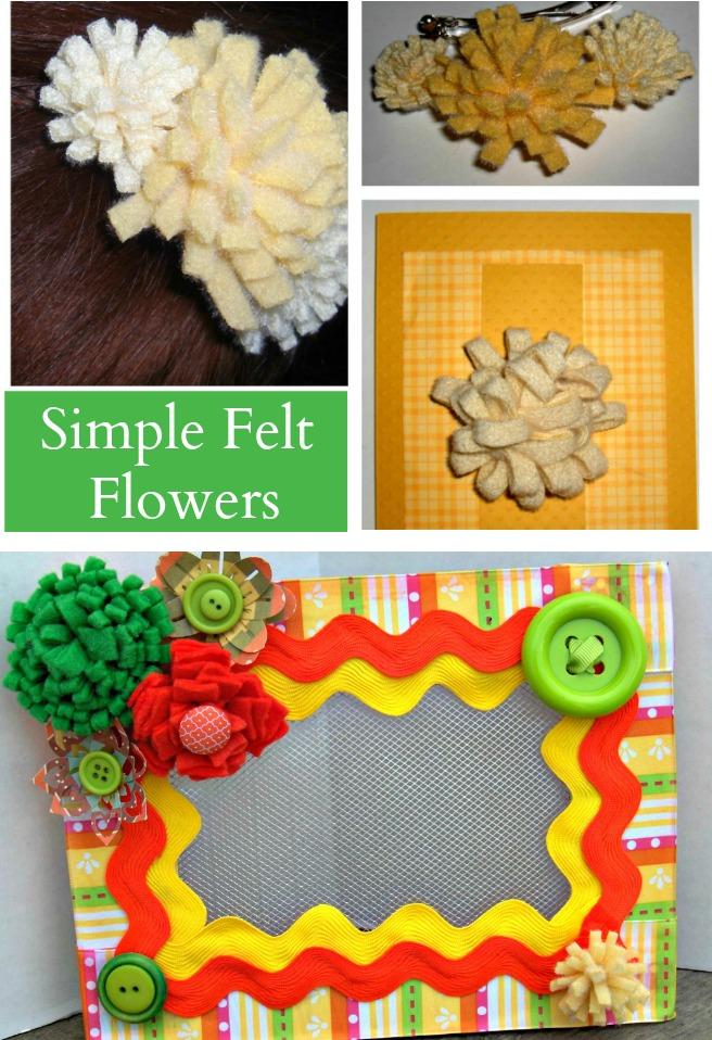 DIY Simple Felt Flowers