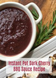 Instant Pot Dark Cherry BBQ Sauce Recipe