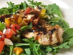 caprese inspired mozzarella chicken breasts