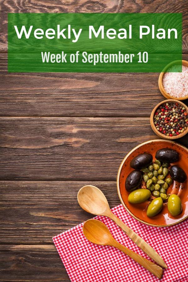 weekly meal plan september 10