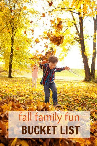 Fall Family Fun Bucket List