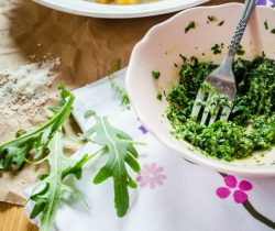 cilantro and pine nut pesto