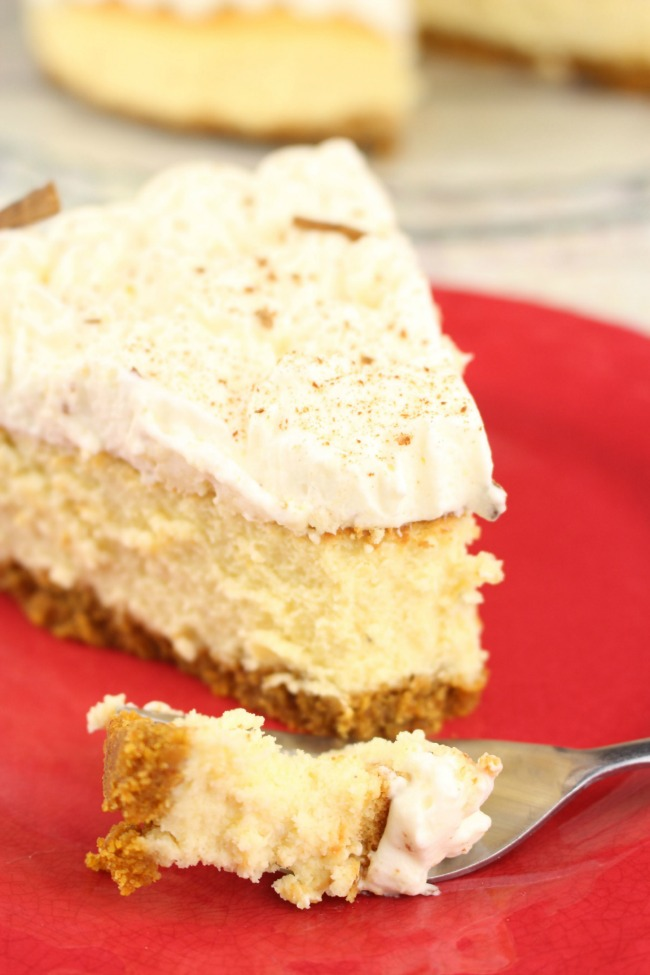 easy pumpkin eggnog cheesecake recipe