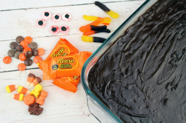 halloween brownies precooked and ready for decorating