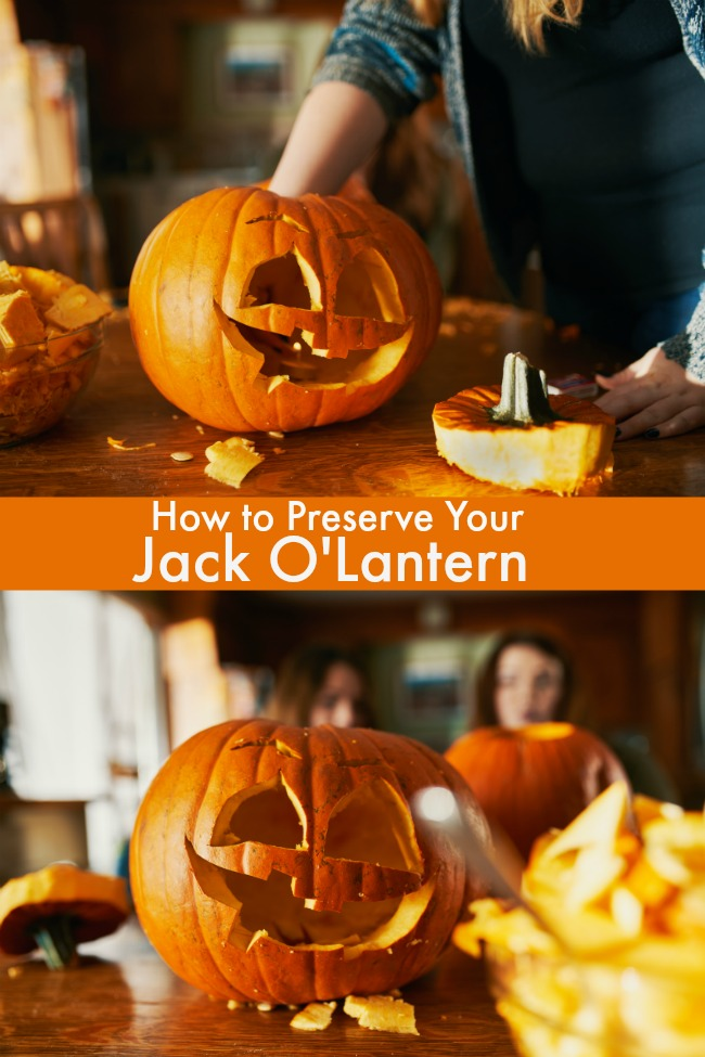 how to preserve your Jack O'Lantern