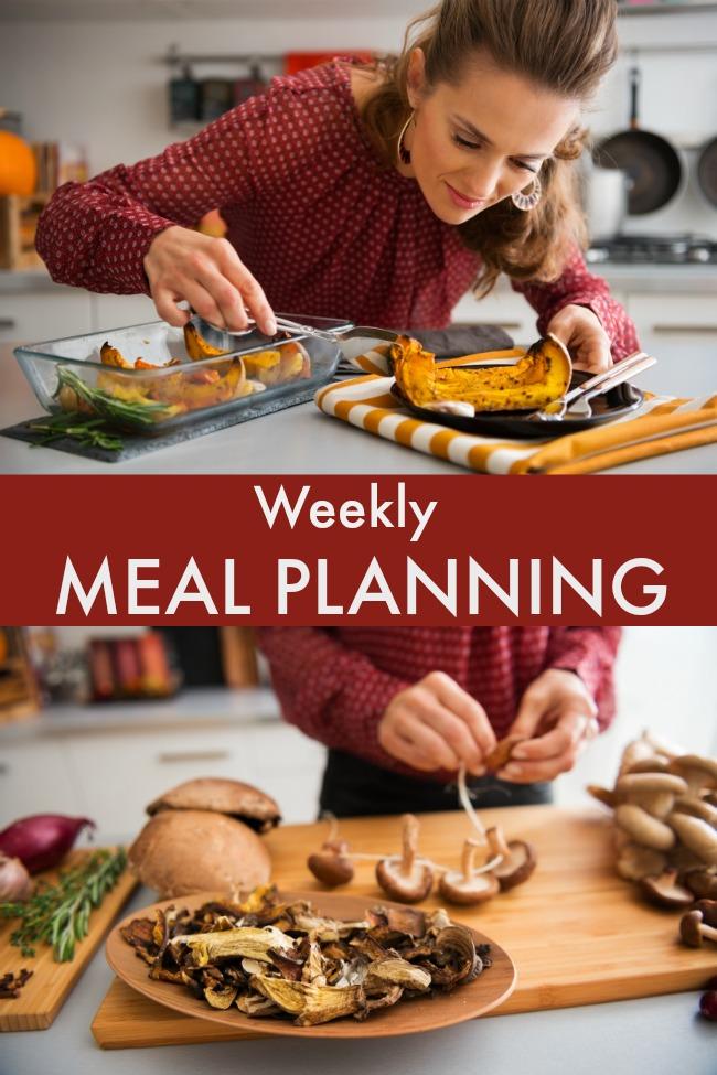 one week menu plan