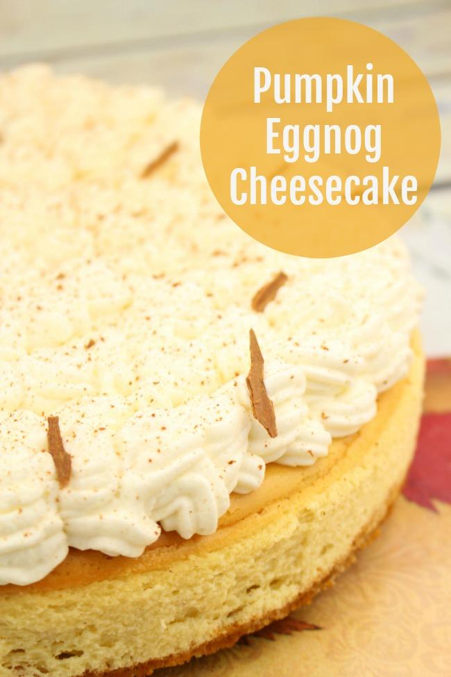 pumpkin eggnog cheesecake