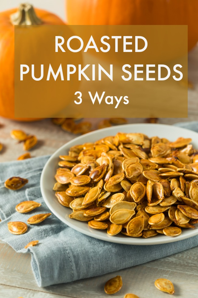 roasted pumpkin seeds 3 ways