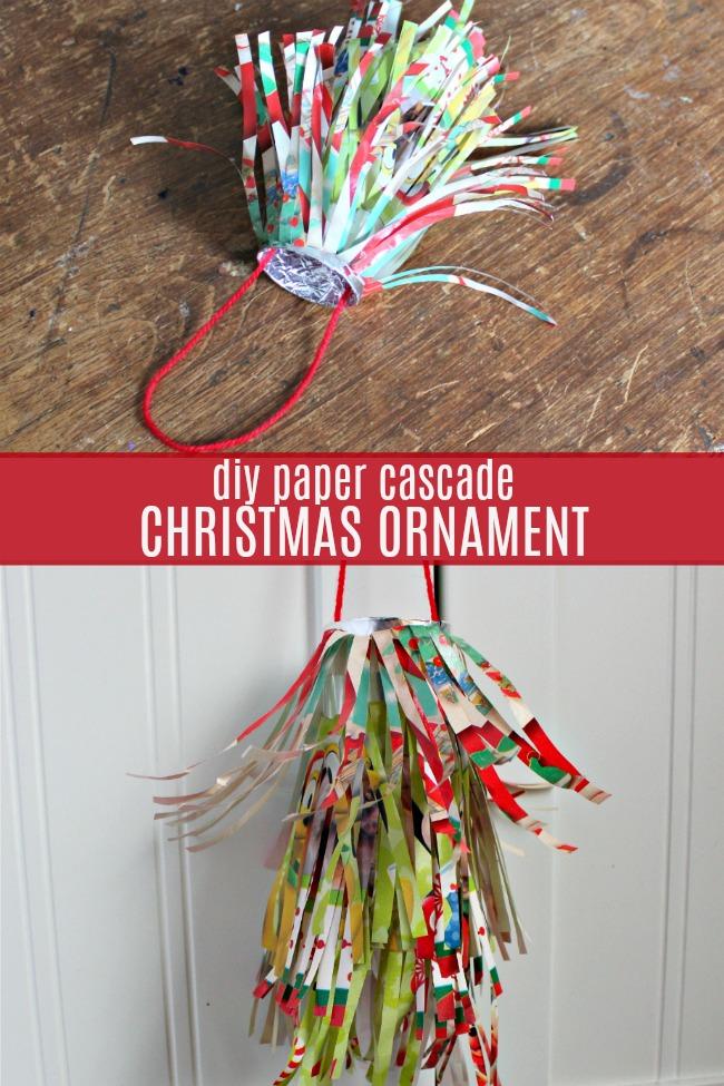 diy paper cascade christmas ornament