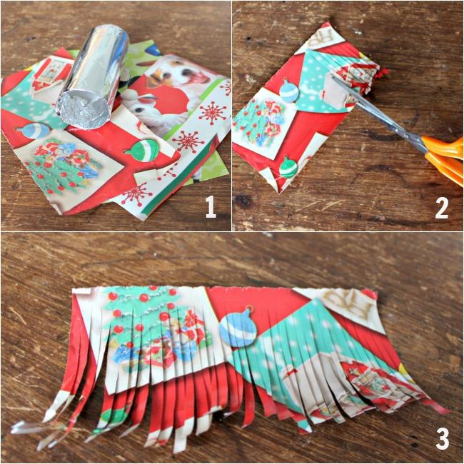 making a paper cascade christmas ornament