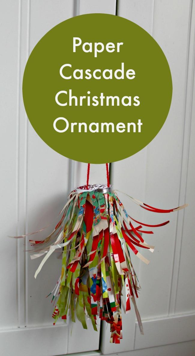 paper cascade christmas ornament