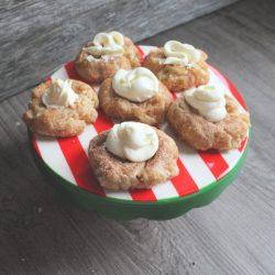 Scrumptious snickerdoodle thumbprint cookies