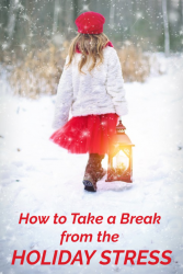 take a break from holiday stress