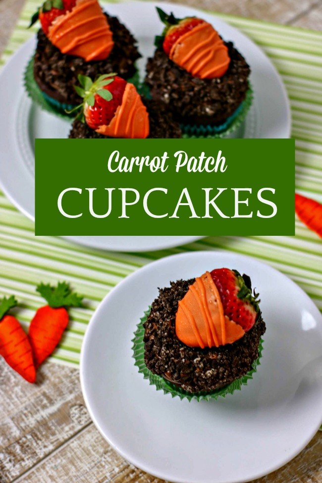 carrot patch cupcakes perfect for spring and easter
