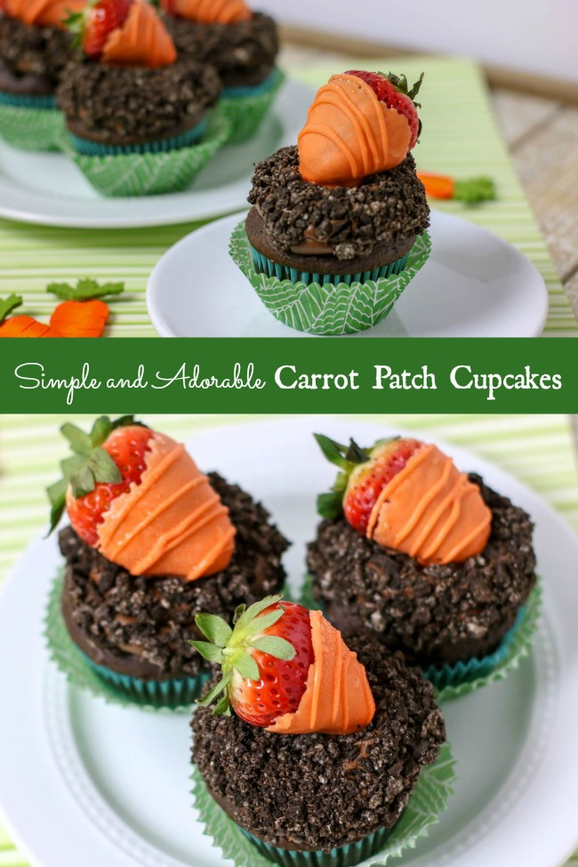 simple and adorable carrot patch cupcakes