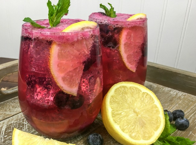maple blueberry lemonade