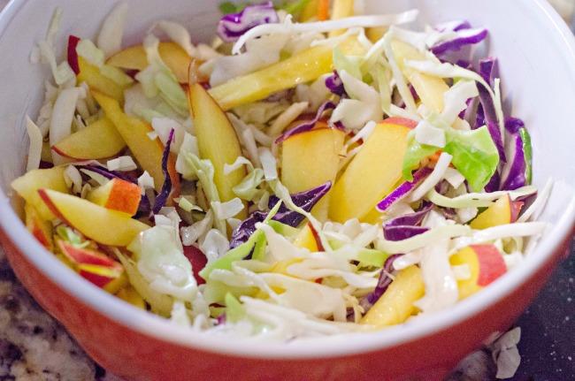 peach coleslaw side dish recipe