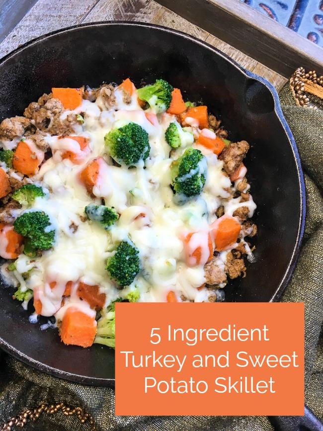 5-Ingredient Turkey and Sweet Potato Skillet