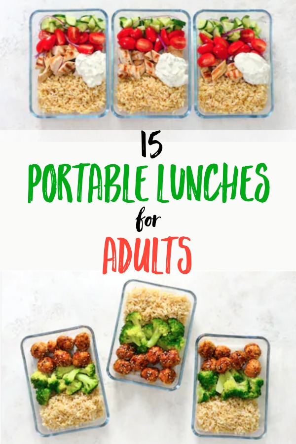15 portable lunches for adults