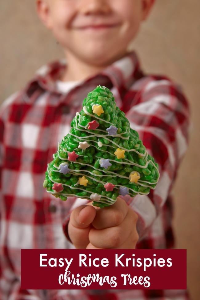 easy rice krispies christmas trees recipe