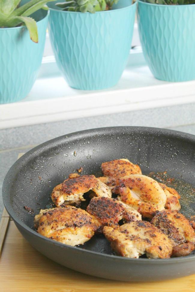 preparing chicken for poppy seed chicken recipe