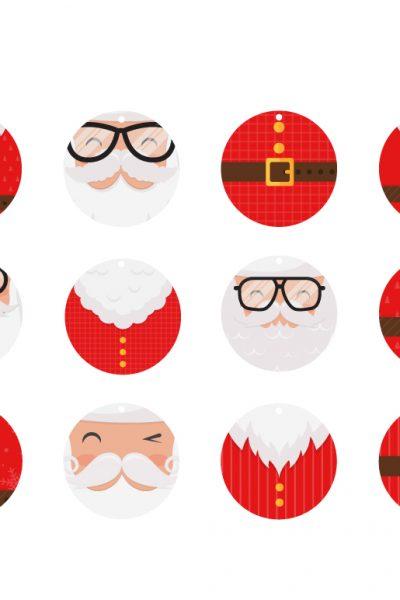 Santa Claus gift tags