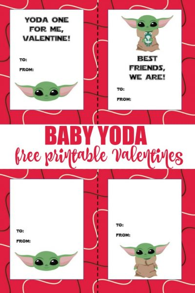 baby yoda free printable valentines