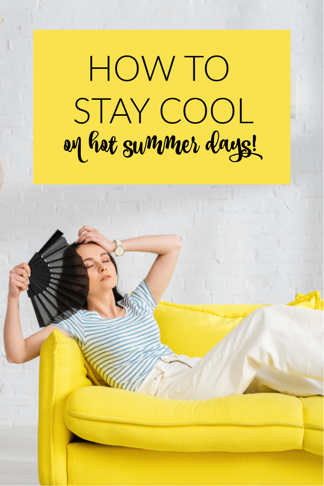 how to stay cool in summer - picture of woman with fan
