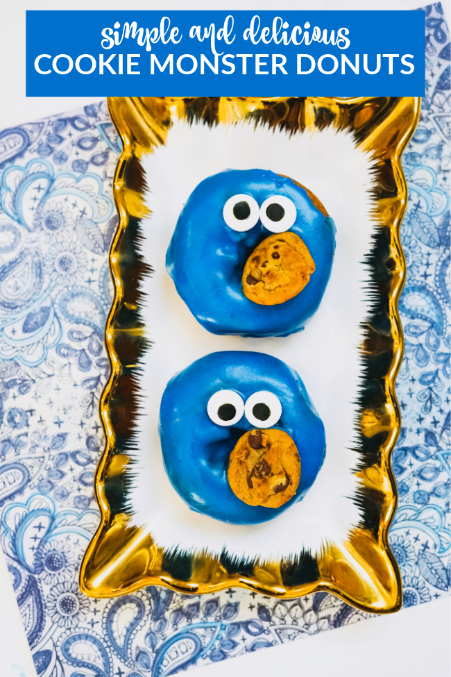 simple and delicious cookie monster donuts
