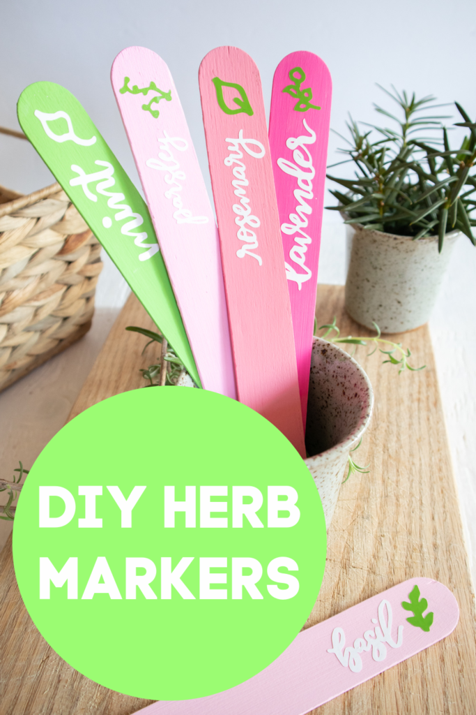 diy herb markers made with cricut