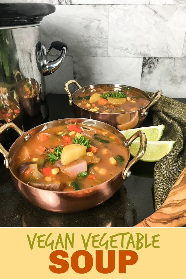 slow cooker vegan vegetable soup