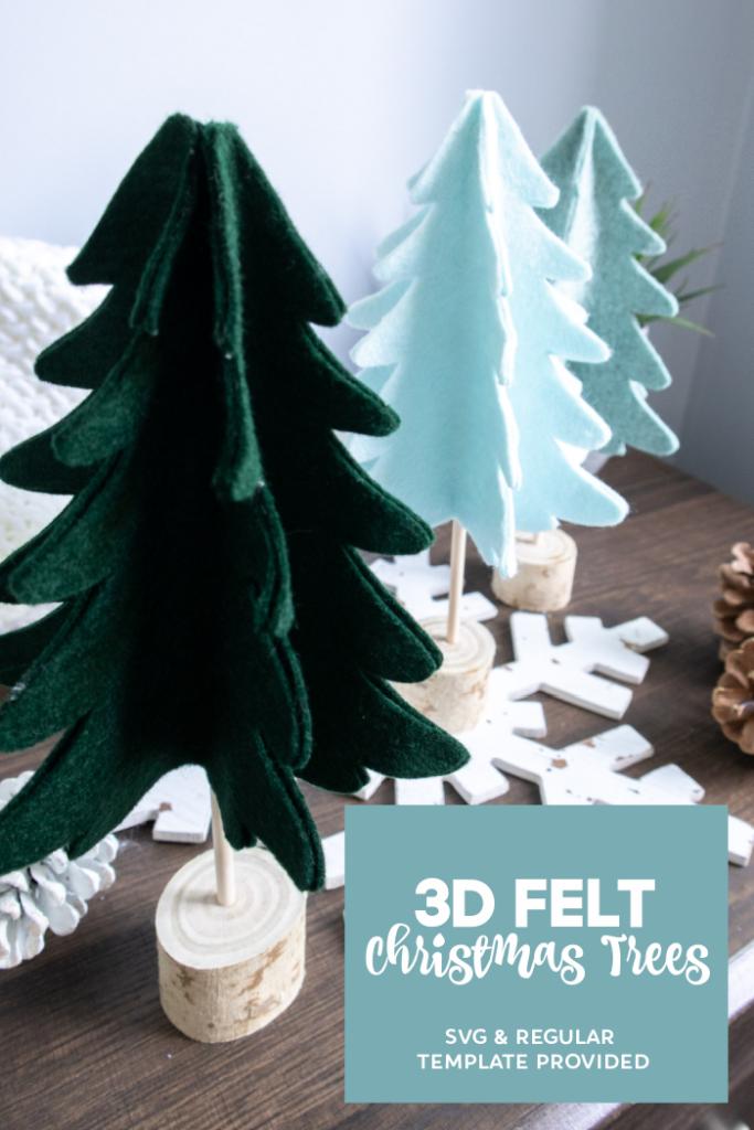 DIY 3D Felt Christmas Trees