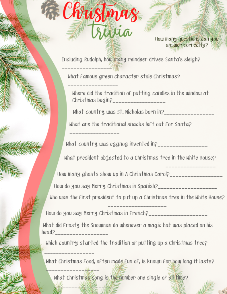 christmas trivia quiz printable