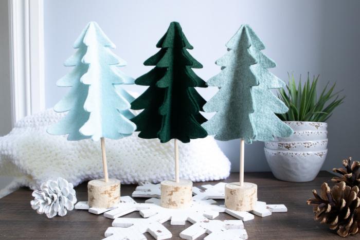 adorable 3d felt christmas trees
