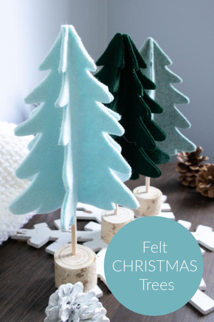 felt christmas trees craft tutorial