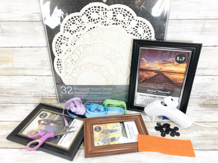 supplies needed for picture frame snowman
