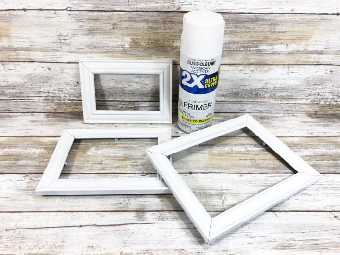 spray paint the frames