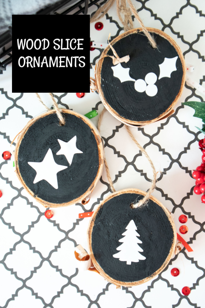 wood slice ornament instructions with svg
