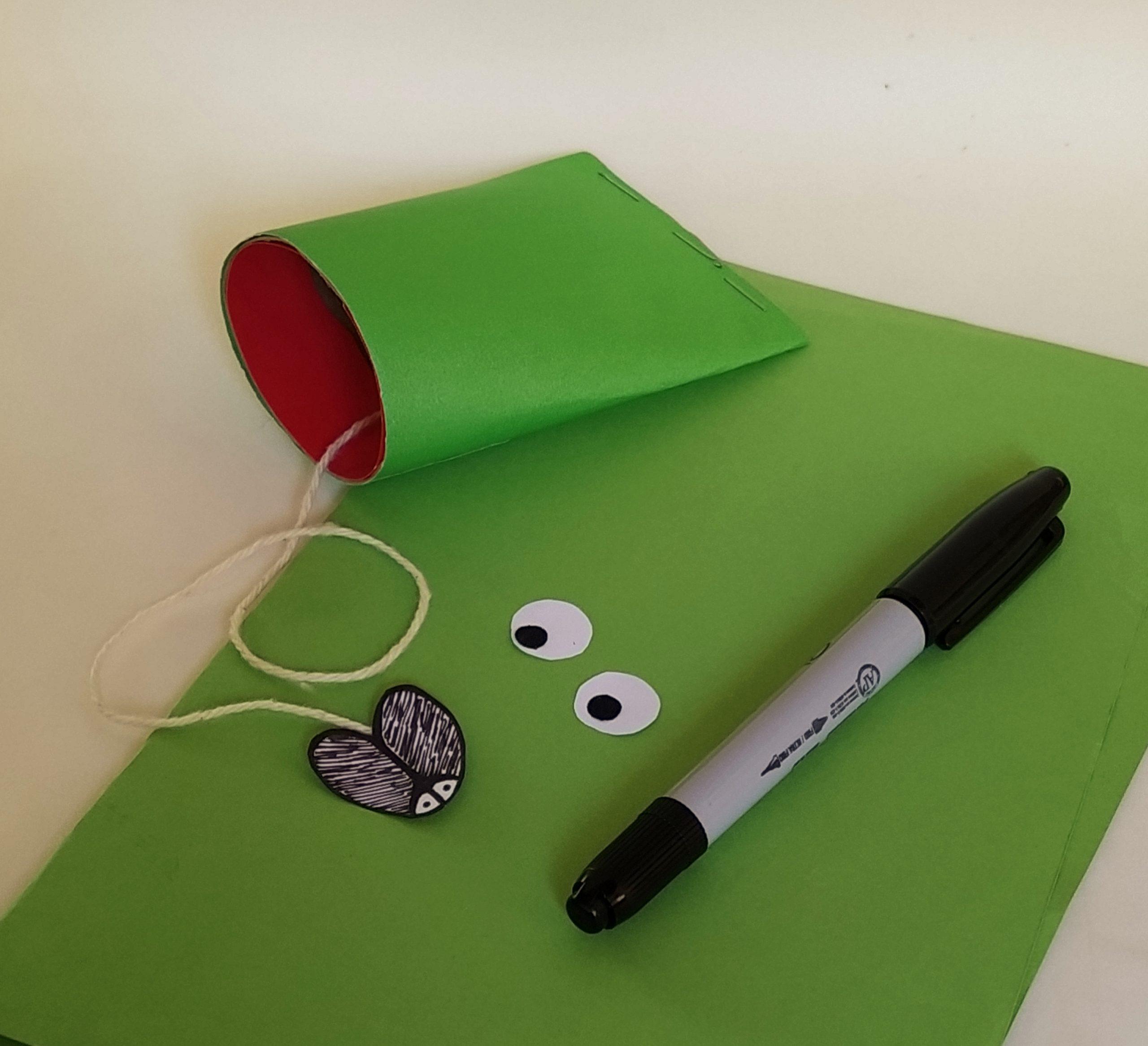 making an eating frog craft