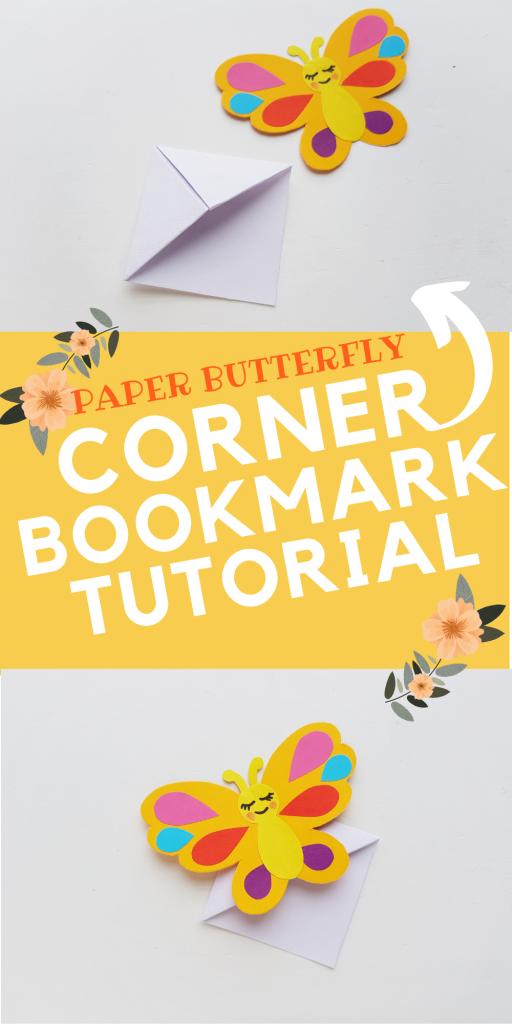 Paper Butterfly Corner Bookmark Tutorial
