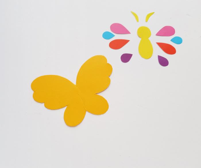 Tracing and cutting out the butterfly template