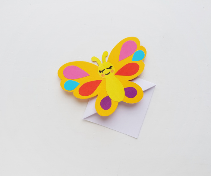 Butterfly design added to origami corner bookmark