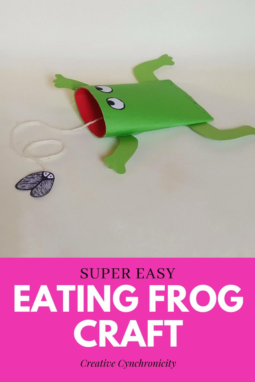 super easy eating frog craft